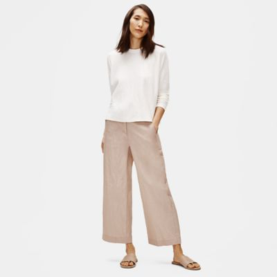 Organic Cotton Steel Wide-Leg Pant