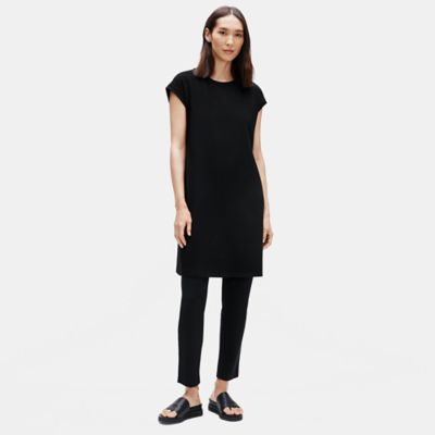 Traceable Organic Cotton Stretch Crew Neck Dress