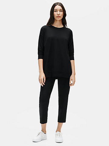 Traceable Organic Cotton Stretch Slouchy Ankle Pant