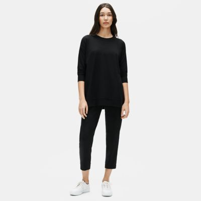 Organic Cotton Stretch Slouchy Ankle Pant