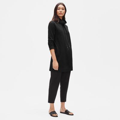 Organic Cotton Stretch Funnel Neck Tunic