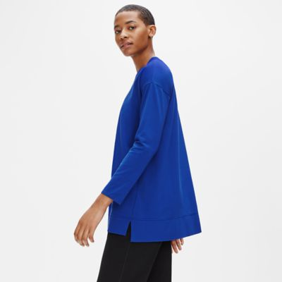 Organic Cotton Stretch Crew Neck Tunic