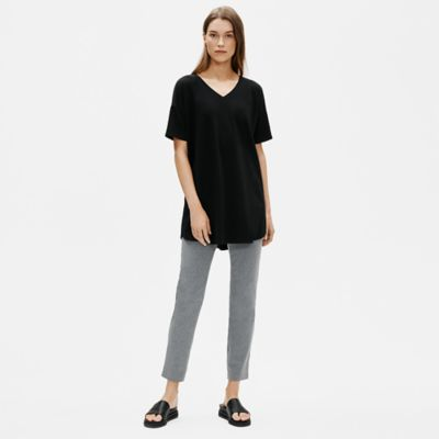 Organic Cotton Stretch V-Neck Tunic