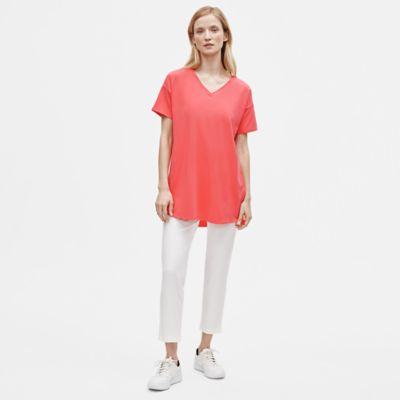 Organic Cotton Stretch V-Neck Tunic