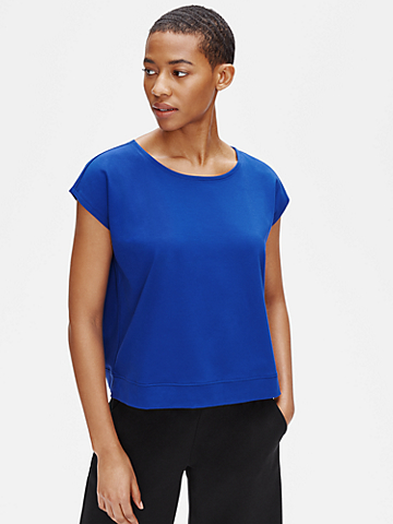Organic Cotton Stretch Ballet Neck Tee