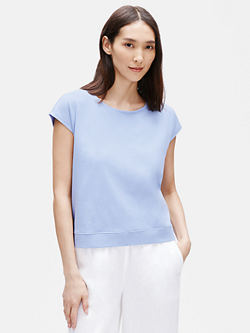Traceable Organic Cotton Stretch Ballet Neck Tee