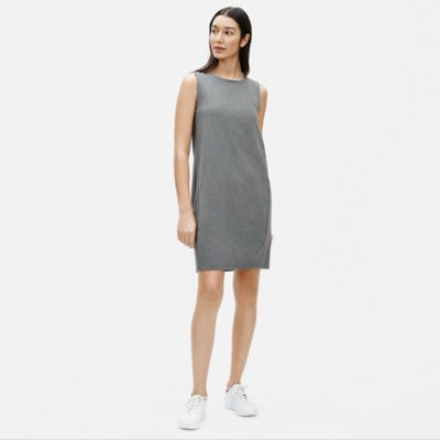 Heathered Organic Cotton Stretch Lantern Dress