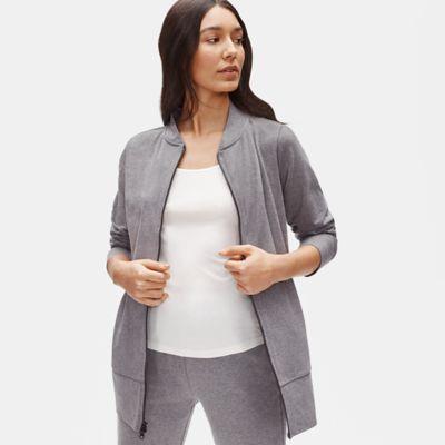 Heathered Organic Cotton Stretch Flight Jacket