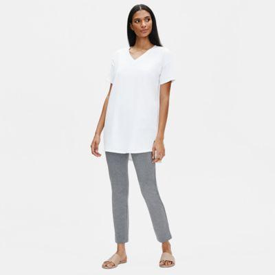 Heathered Organic Cotton Slim Pant