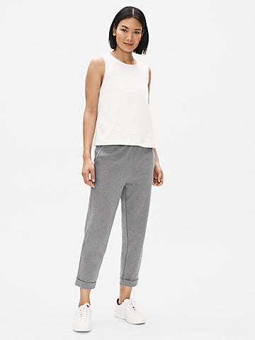 Heathered Organic Cotton Tapered Pant