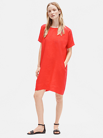 Organic Handkerchief Linen Boxy Dress