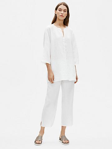 Organic Handkerchief Linen Straight Pant