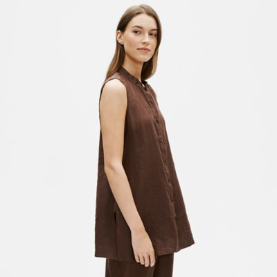 Organic Handkerchief Linen Sleeveless Shirt