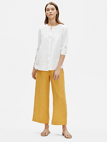 Organic Handkerchief Linen Round Neck Shirt