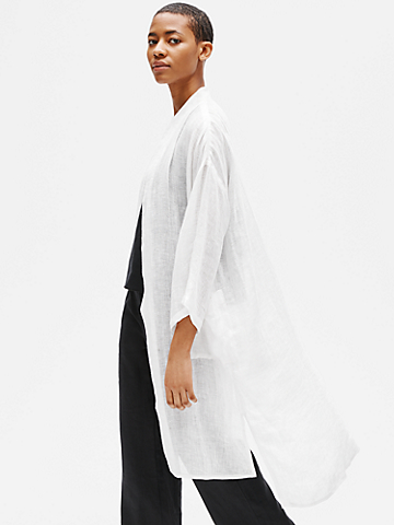 Organic Linen Gauze High Neck Jacket