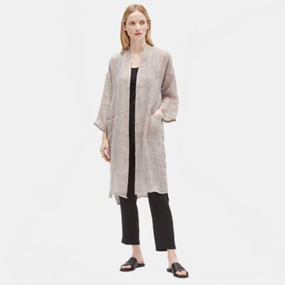 Organic Linen Gauze High Neck Jacket