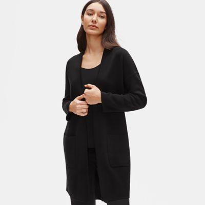 Silk & Organic Cotton Interlock Long Cardigan