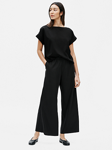 Sandwashed Tencel Wide-Leg Pant