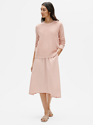 Sandwashed Tencel A-Line Skirt