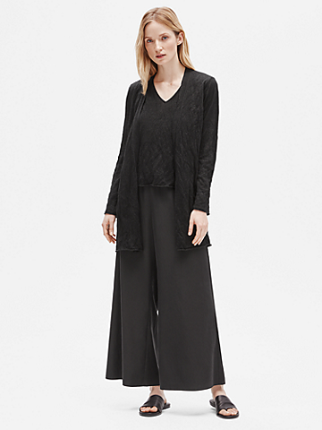 Tencel & Metal Long Cardigan