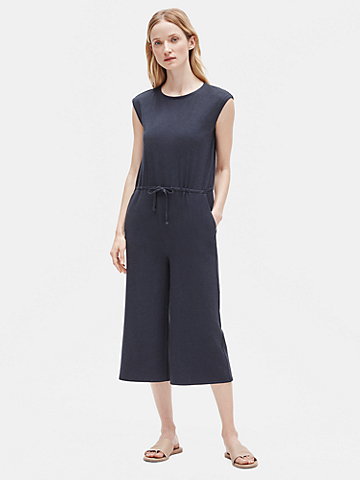 Tencel Rib Cropped Jumpsuit