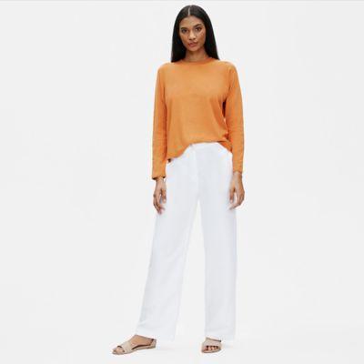Tencel & Organic Linen Slub Straight Pant