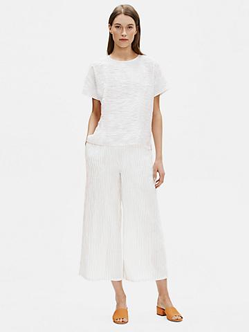 Organic Linen Cotton Striped Top