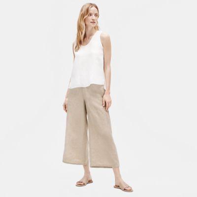 Organic Linen Wide-Leg Pant
