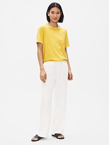 Organic Linen Straight Pant