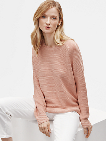 Organic Linen Cotton Crew Neck Top