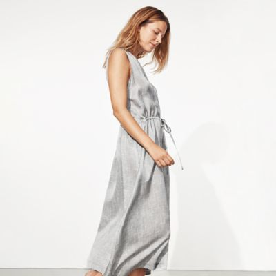 Drift Silk Organic Cotton Button-Front Dress
