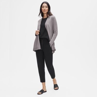 Tencel & Organic Cotton Silk Shaped Cardigan