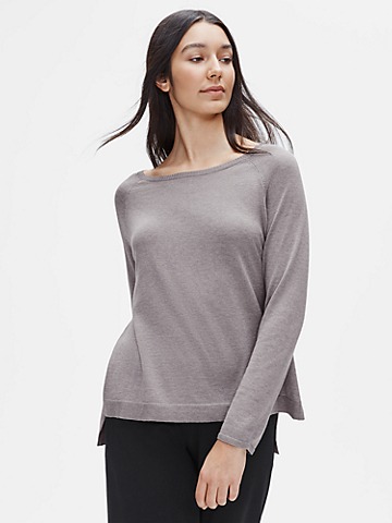 Tencel & Organic Cotton Silk Ballet Neck Top