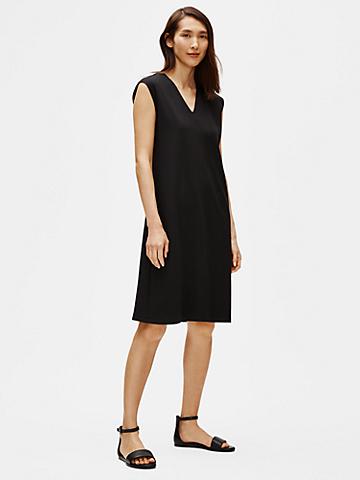 Flex Tencel Ponte V-Neck Dress
