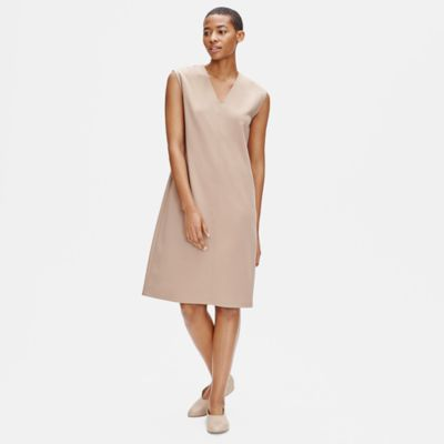 Flex Tencel Ponte V-Neck Dress