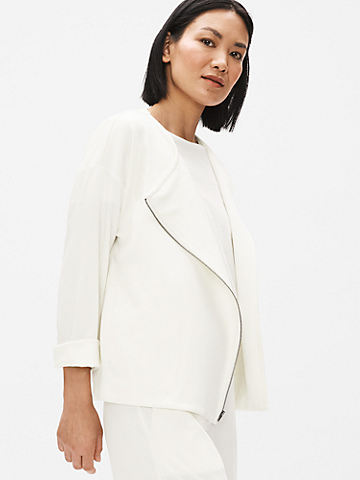Flex Tencel Ponte Round Neck Jacket