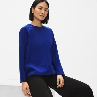 Flex Tencel Ponte Round Neck Top