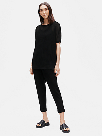 Washable Stretch Crepe Slouchy Ankle Pant