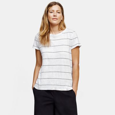 Organic Linen Jersey Striped Tee