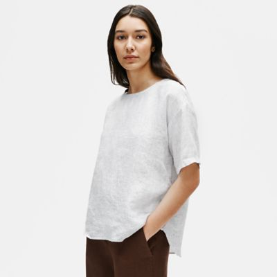 Organic Linen Check Box-Top