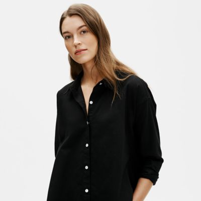Organic Cotton Twill Classic Collar Shirt
