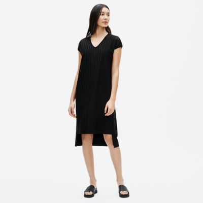 Tencel Rib V-Neck Dress