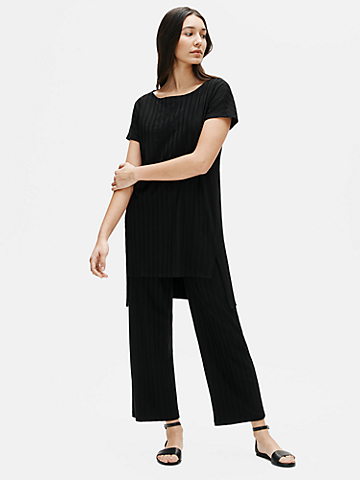 Tencel Wide Rib Straight Pant