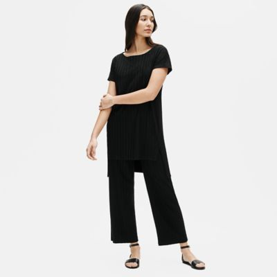 Tencel Rib Straight Pant