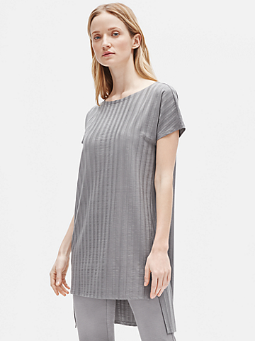 Wide Rib Stretch Tunic