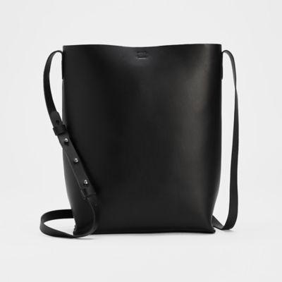 Vegetable Tanned Italian Leather Bucket Bag