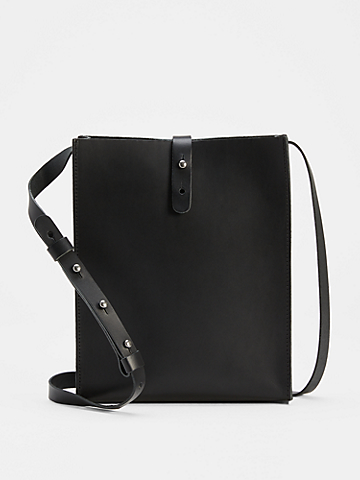 Vegetable Tanned Italian Leather Crossbody Bag