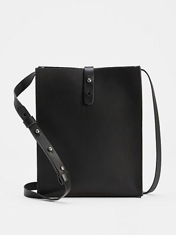 Vegetable Tanned Italian Leather Crossbody Bag