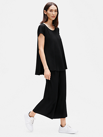 Viscose Jersey Scoop Neck Box-Top