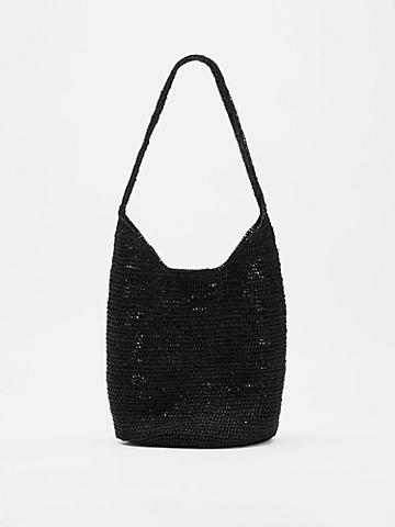 Mar Y Sol for EILEEN FISHER Crocheted Raffia Small Tote